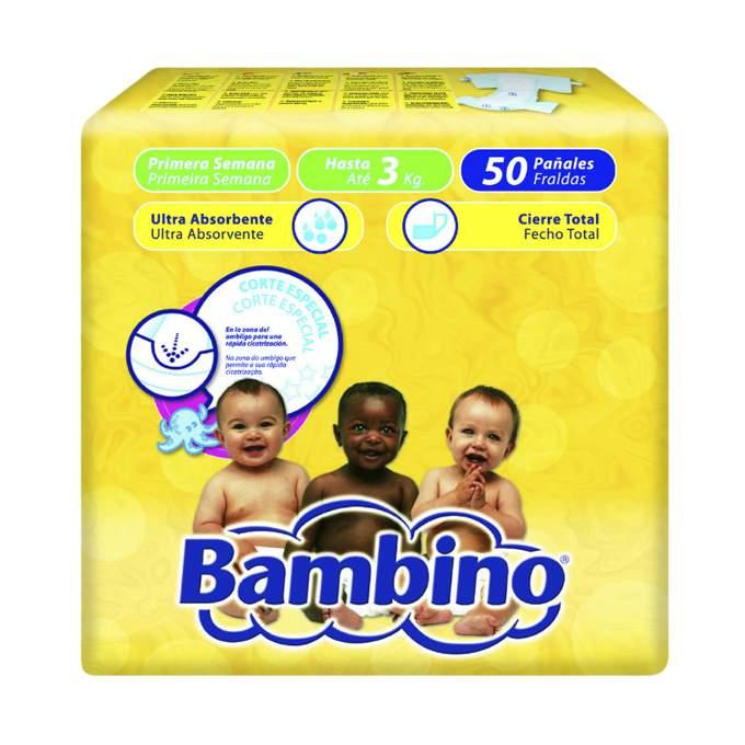 Paquete pañal bambino primera semana