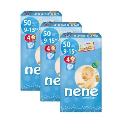 Caja de 3 paquetes de pañales nene Talla 4