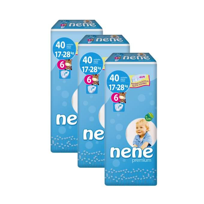 Caja de 3 paquetes de pañales nene Talla 6