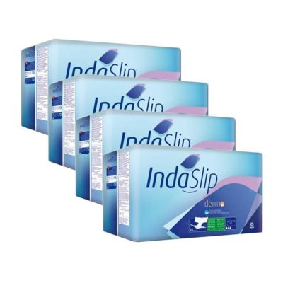 Caja de 4 paquetes de pañales Indaslip Talla grande
