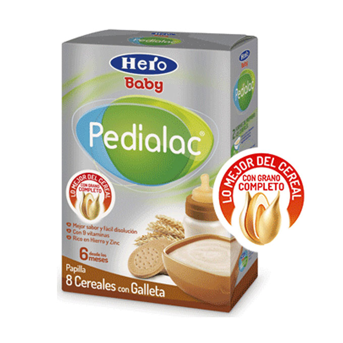 Papilla 8 cereales galleta Hero Baby Pedialac