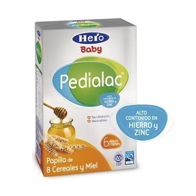Papilla 8 cereales con miel 500 g. Hero Baby Pedialac