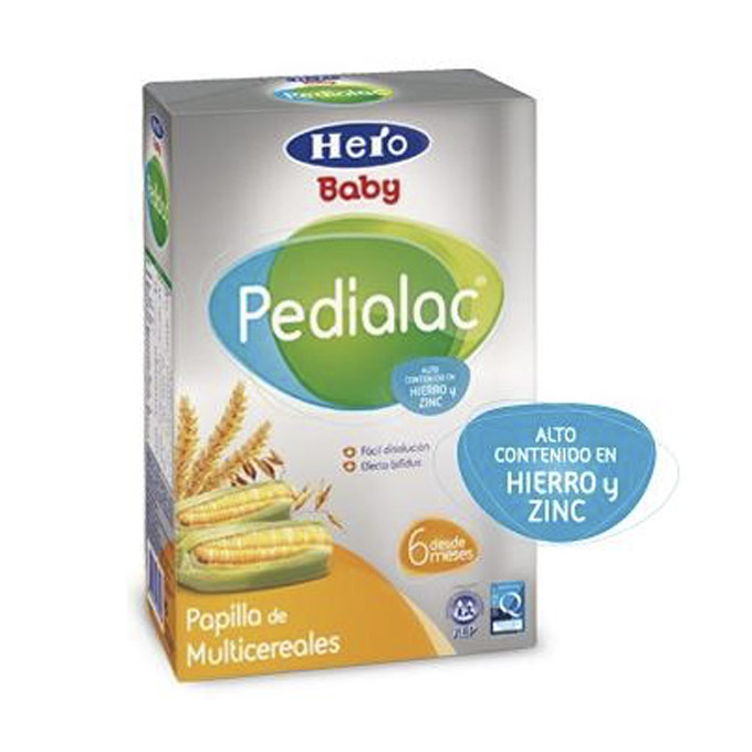 Papilla multicereales 500 g. Hero Baby Pedialac