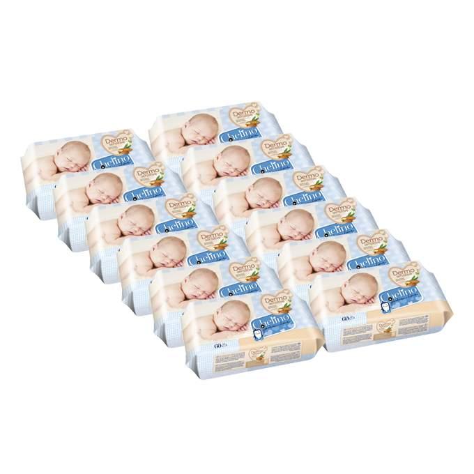 Caja de 12 paquetes de toallitas 60 uds chelino