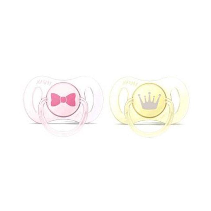 Chupetes mini de 0 a 2 meses rosa y amarillo Avent