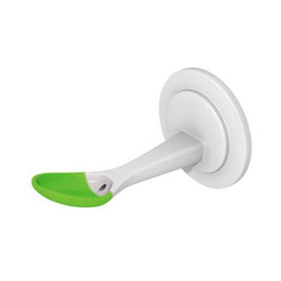 Cuchara biberón silicona orificio grande 6m+ verde Lovi