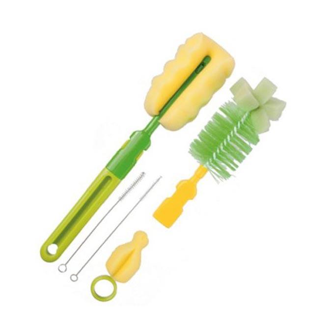 Juego de cepillos para biberones tetinas verde