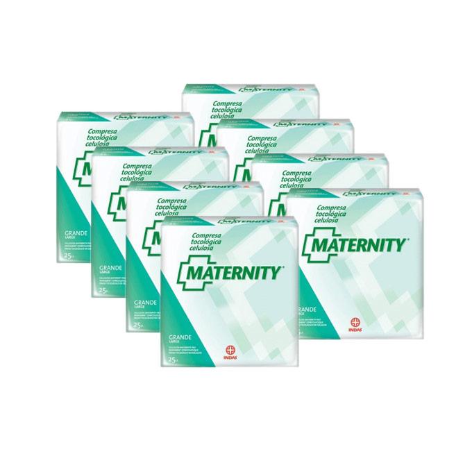 Compresas maternity de celulosa 200 uds.