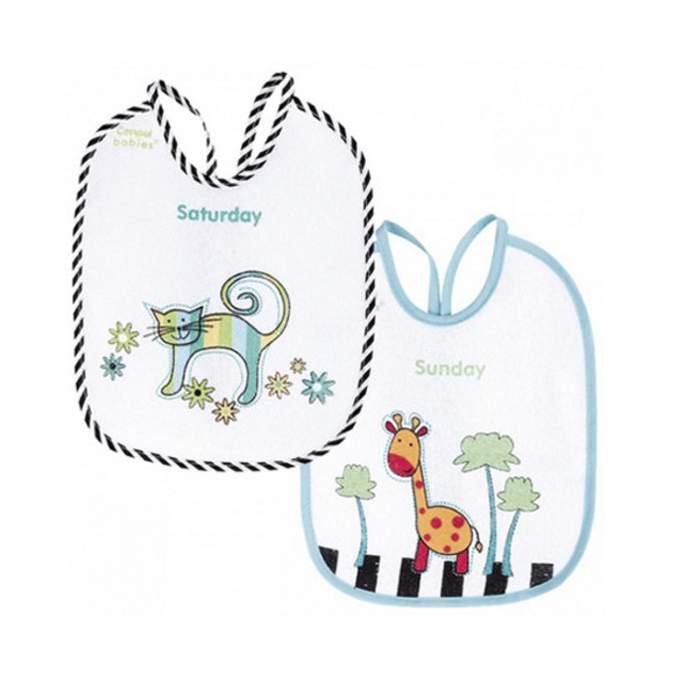 Babero semanal de animales de colores Canpol Babies