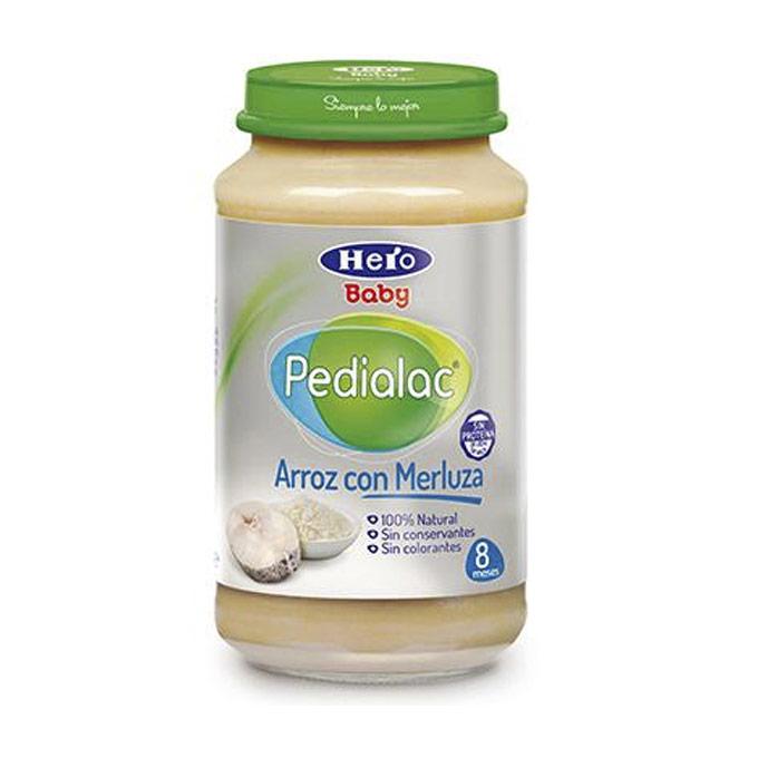Tarrito arroz blanco y merluza 250 g. Hero baby Pedialac