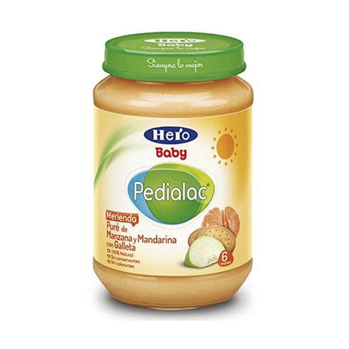 Tarrito manzana mandarina y galleta 200 g. Hero baby Pedialac