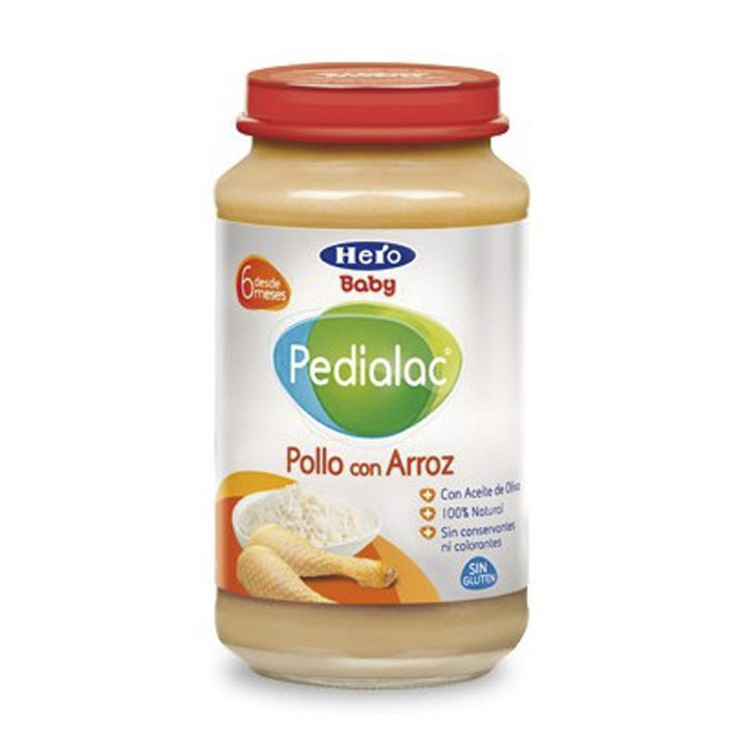Tarrito pollo arroz 250 g. Hero baby Pedialac