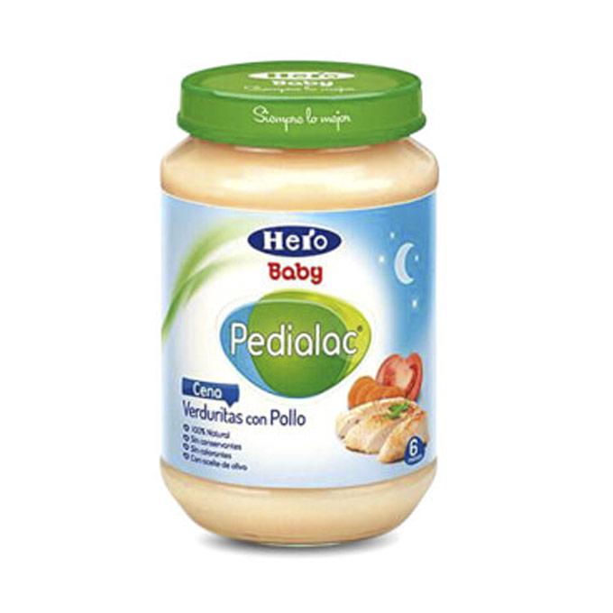 Tarrito verduritas con pollo 200 g. Hero baby Pedialac