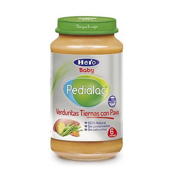 Tarrito verduritas tiernas con pavo 250 g. Hero baby Pedialac