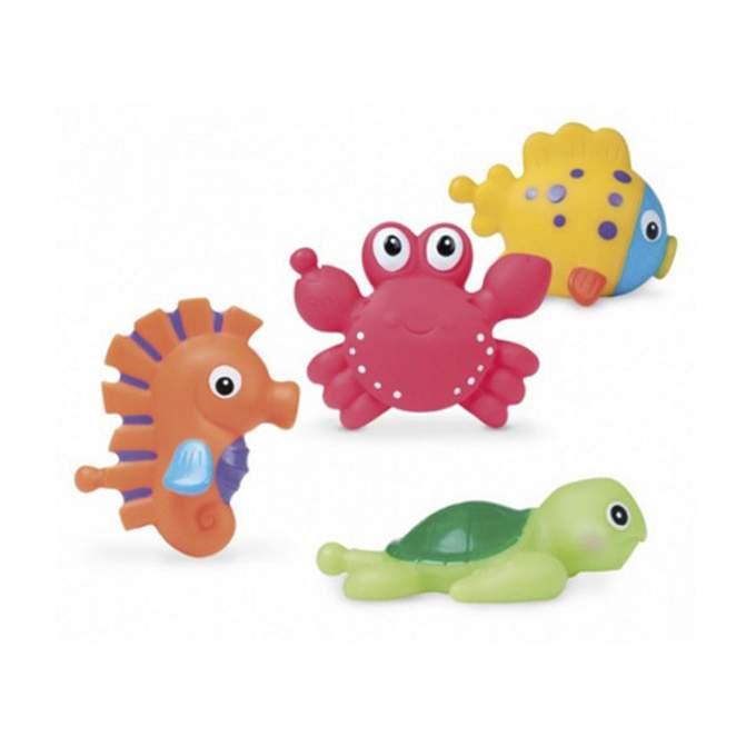 Juguetes de ba o con malla colorful ocean babyclean - Juguetes de bano ...
