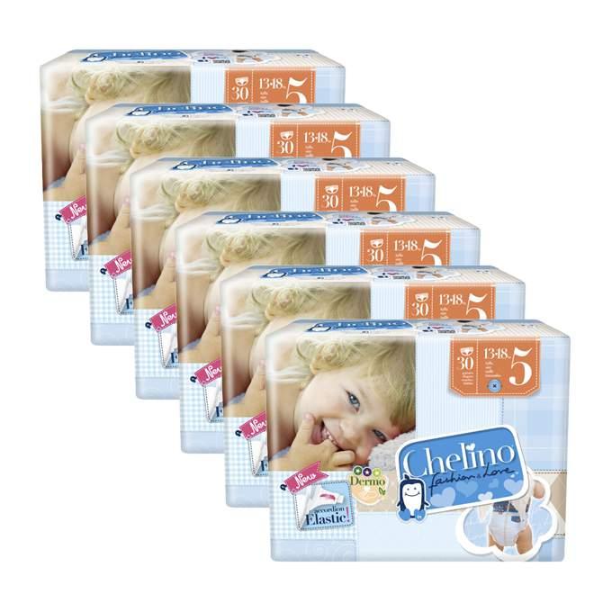 Caja de 6 paquetes de pañales Chelino Talla 5