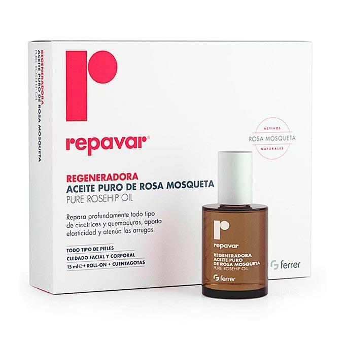 Aceite puro rosa mosqueta regeneradora repavar Ferrer