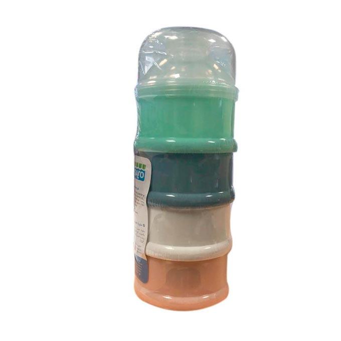 Contenedor de leche en polvo opaco colores Saro