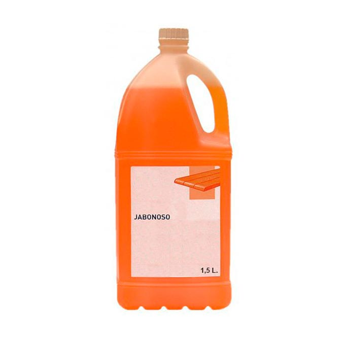 Limpiador de suelos jabonosos madera botella de 1,5 litros