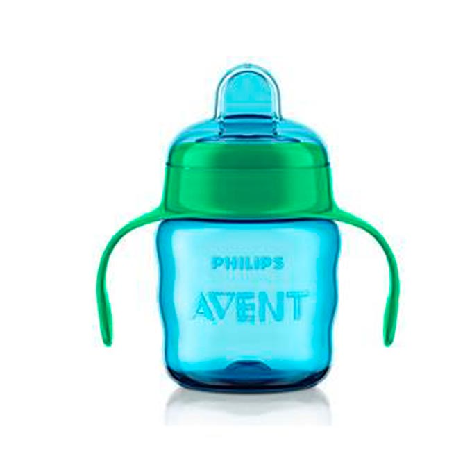Vaso surtidor boquilla fácil 200 ml. azul Avent