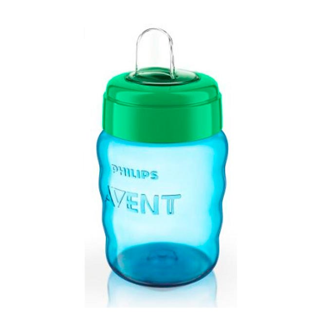 Vaso surtidor boquilla fácil 260 ml. azul Avent