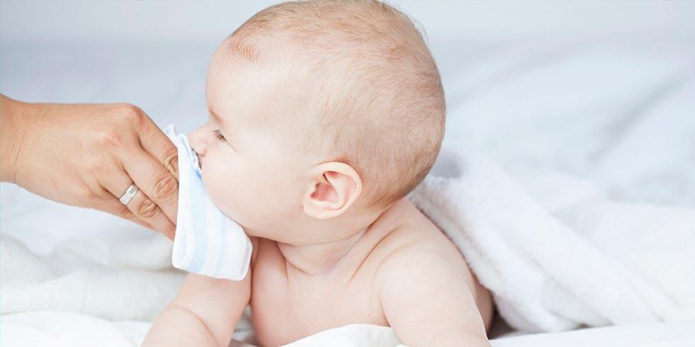 Descongestión de la nariz del niño